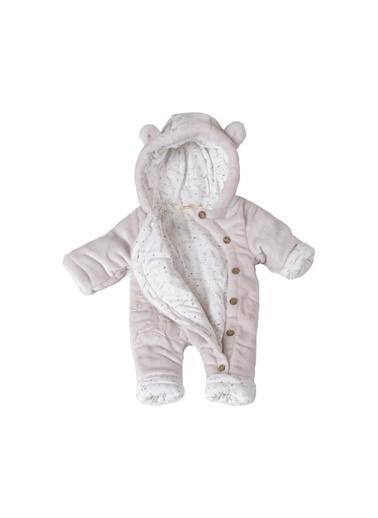 POKY Bebek Ayıcık Işlemeli Düğmeli Coral Soft Elyaflı Uyku Tulumu Yıkanabilir-1426 Kahve